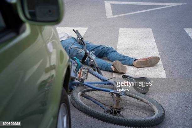 bicycle accident - crash stock pictures, royalty-free photos & images