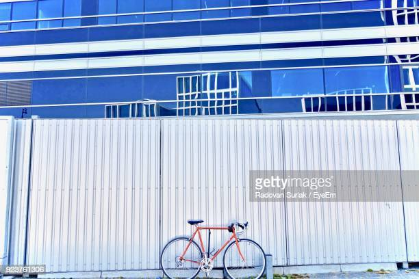 Bicycle Against White Wall