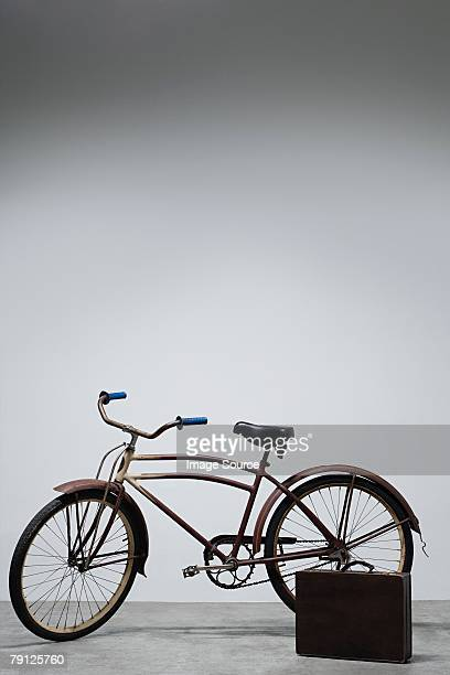 A bicycle and a briefcase