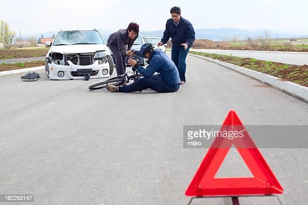 Fahrrad und Auto crash