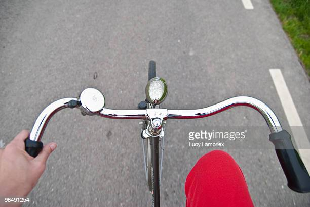 Bicycle as seen from rider