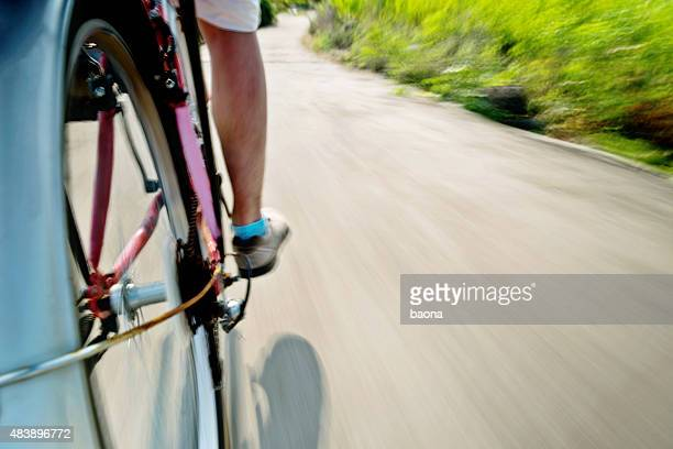 Bicycle at speed