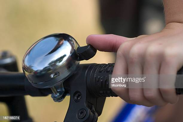 bicycle bell - bell stock pictures, royalty-free photos & images