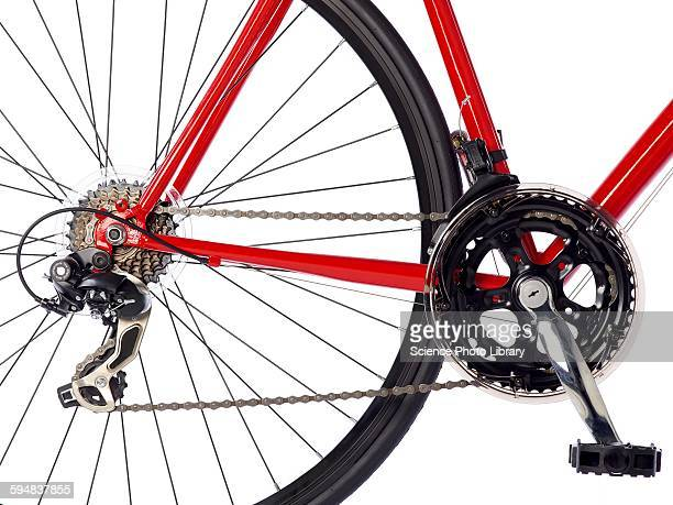 Bicycle chain and back wheel