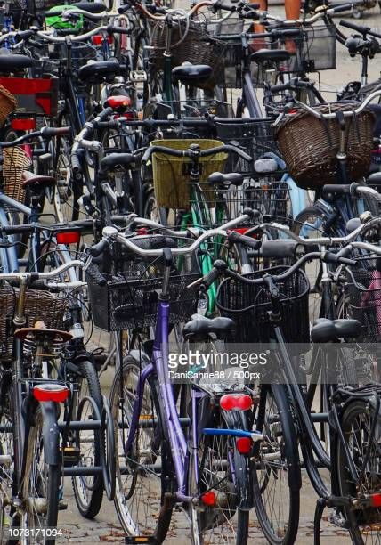 bicycle chaos - sahne stock pictures, royalty-free photos & images
