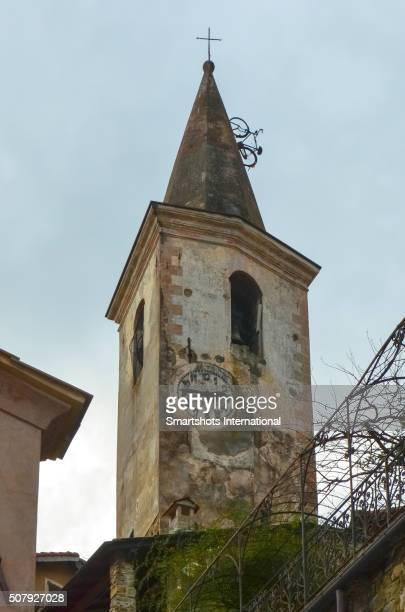 Bicycle climbing a medieval bell tower spire