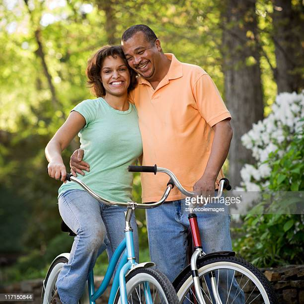 Bicycle Couple in Park