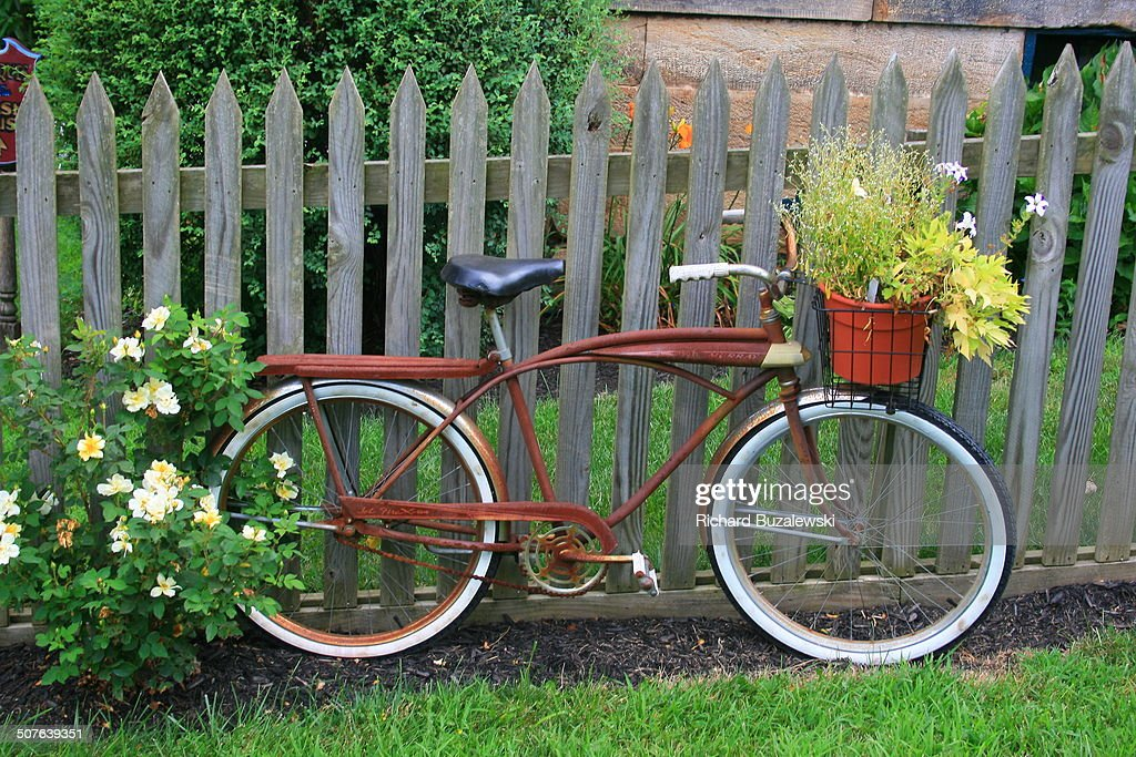 Bicycle Garden Ornament : Stock Photo
