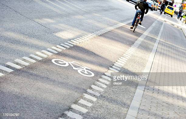 Bicycle in bike lane