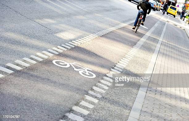 Fahrrad in Fahrrad lane