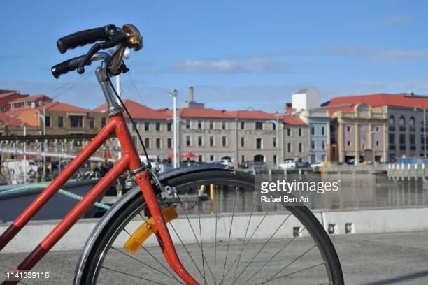 Bicycle in Constitution Dock Hobart Tasmania Australia
