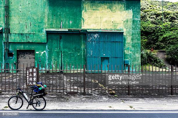 Bicycle in front of old building