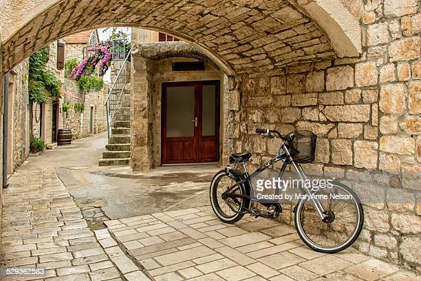 Bicycle in Medieval Town