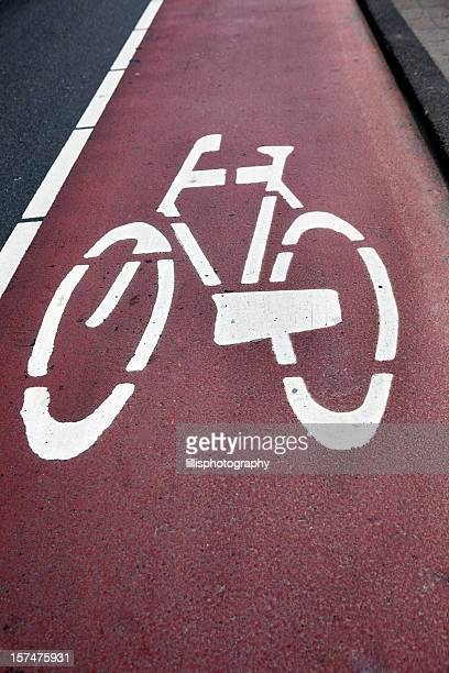 Bicycle Lane in Amsterdam Street