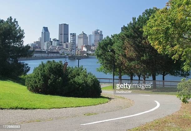 Bicycle Lane in Montreal City Park