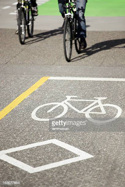 Fahrradweg in Vancouver, Kanada