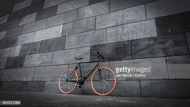 Bicycle Leaning On Wall