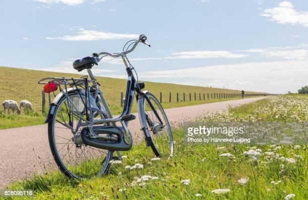 a bicycle on texel - friesland noord holland stockfoto's en -beelden