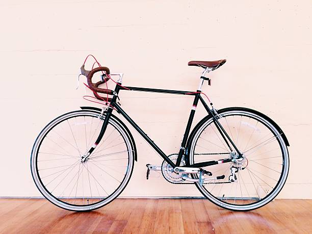 Bicycle Parked Against Wall Wall Art