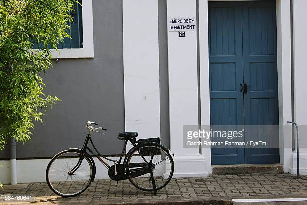 Bicycle Parked At Front Door