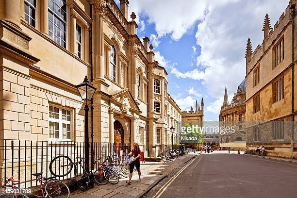 bicycle parking at oxford university - oxford england stock pictures, royalty-free photos & images