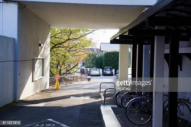 Bicycle parking lot of the Japanese school
