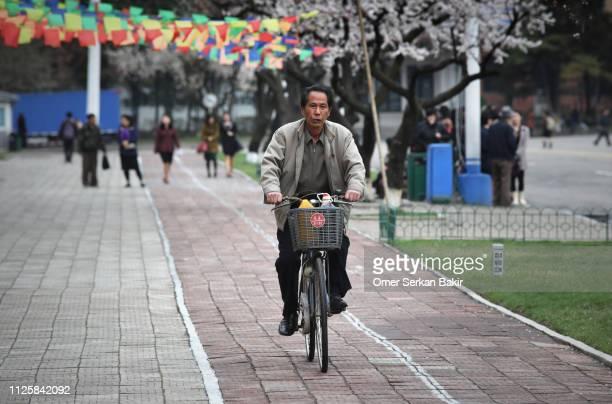 ciclovías en corea del norte - corea del norte fotografías e imágenes de stock