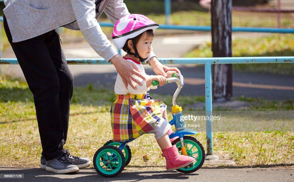 Bicycle practice : Stock Photo