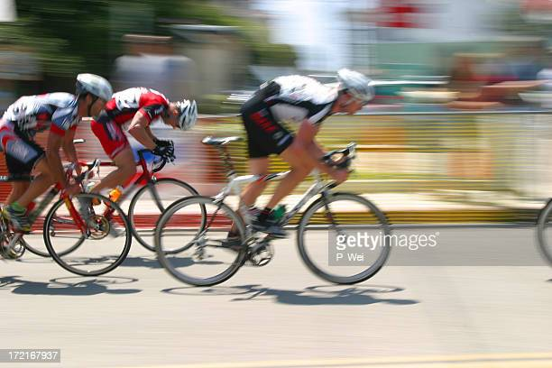 bicycle race: breaking away - sports race stock pictures, royalty-free photos & images