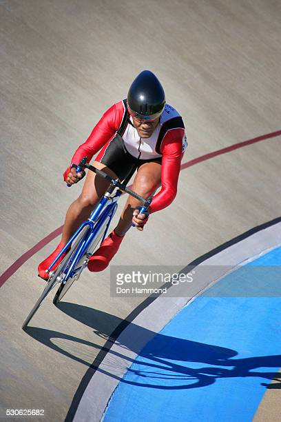 Bicycle Racer on Banked Track