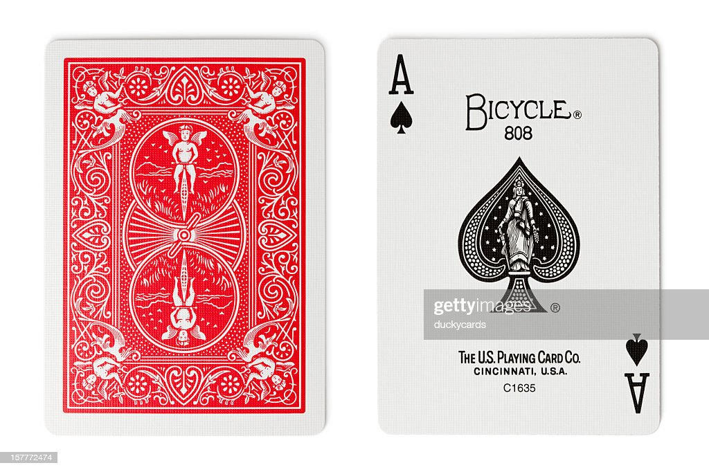 Bicycle Rider Back Playing Cards : Stock Photo