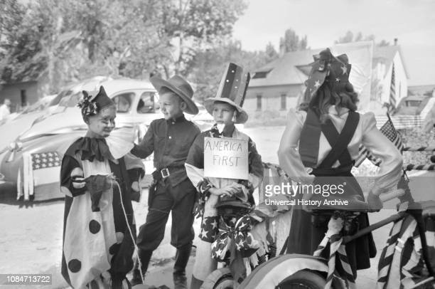 Bicycle Riders in Fourth of July Parade, Vale, Oregon, USA, Russell Lee, Farm Security Administration, July 1941.