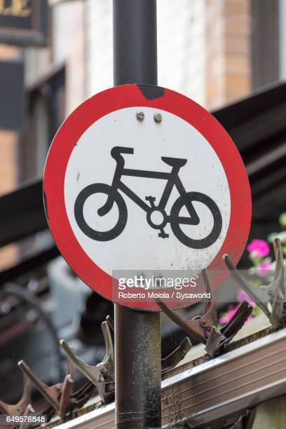 Bicycle road sign London