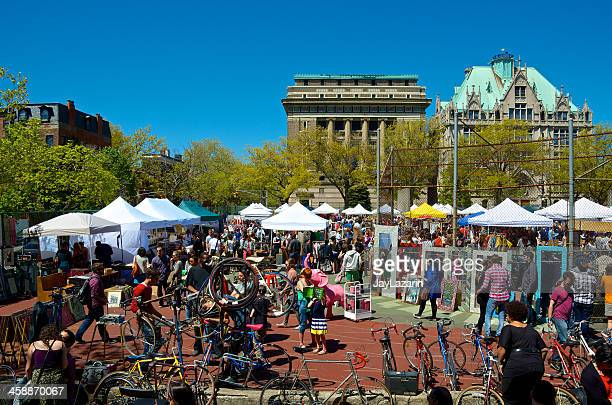 bicycle sales & repair, brooklyn flea market, fort greene, nyc - fort greene stock pictures, royalty-free photos & images