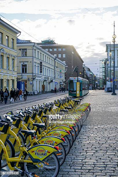 Bicycle sharing system in Hallituskatu street