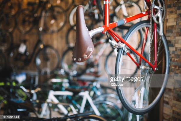 bicycle shop - bicycle shop stock pictures, royalty-free photos & images