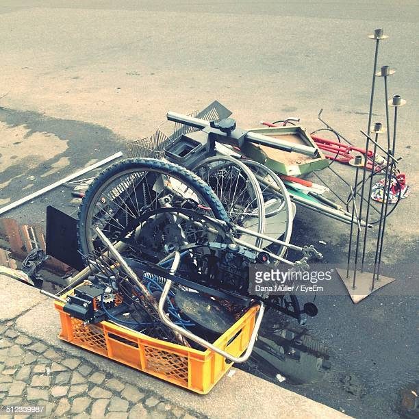 Bicycle spare parts on street