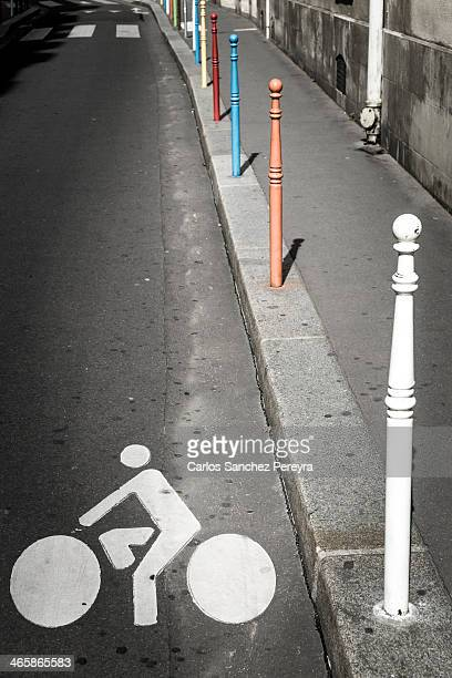 Bicycle symbol in Paris