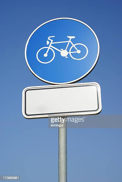 Bicycle traffic sign in vertical orientation