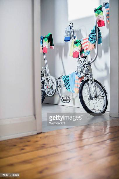 Bicycle used as clotheshorse