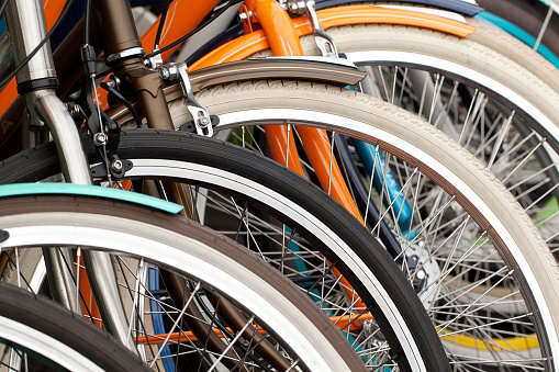 bicycle wheels, close-up 1149625161
