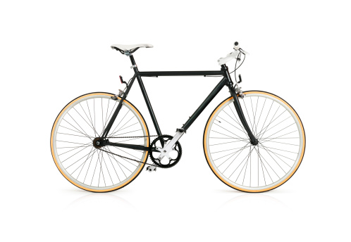 Bicycle with Full Clipping Path 171586627