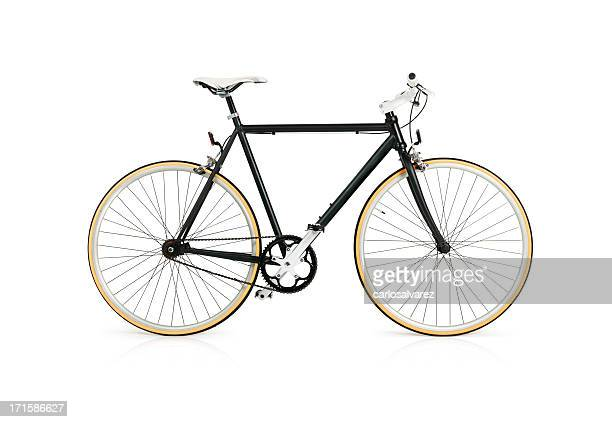 bicycle with full clipping path - white background stockfoto's en -beelden