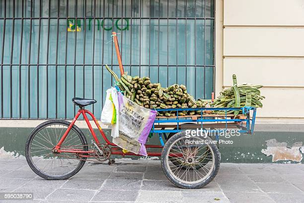 Bicycle with plantains in Lima Peru