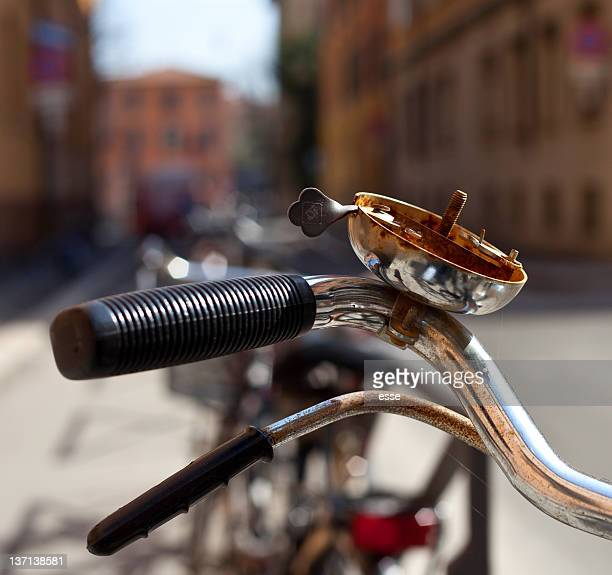 Bicycle with rusty bicycle bell