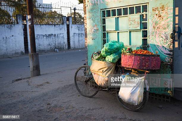 Bicycle with vegetables for market Kathmandu Nepal