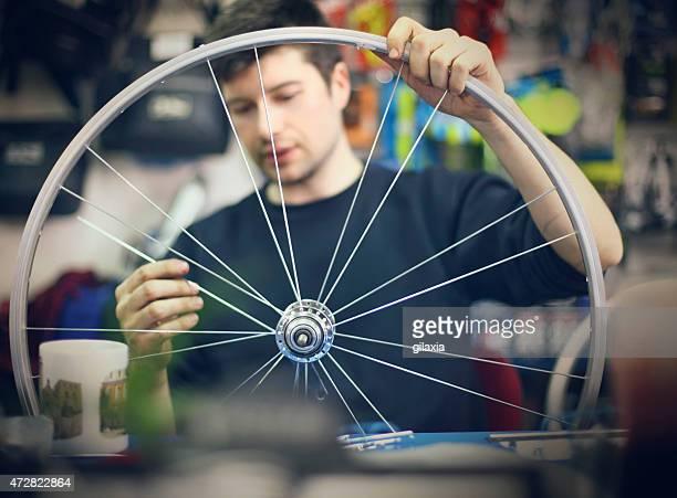 Bicycle workshop.