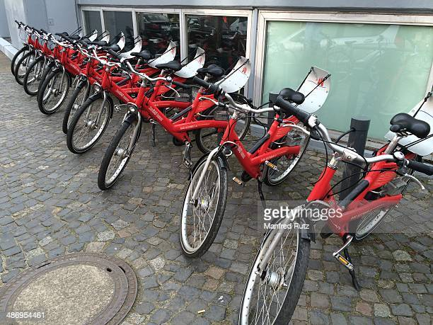 Bicycles for hire Hamburg Germany