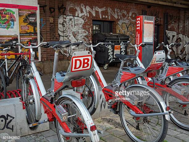 Bicycles for rent.