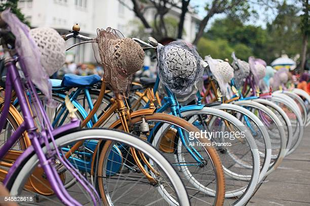Bicycles for rented in Old Batavia City, Jakarta